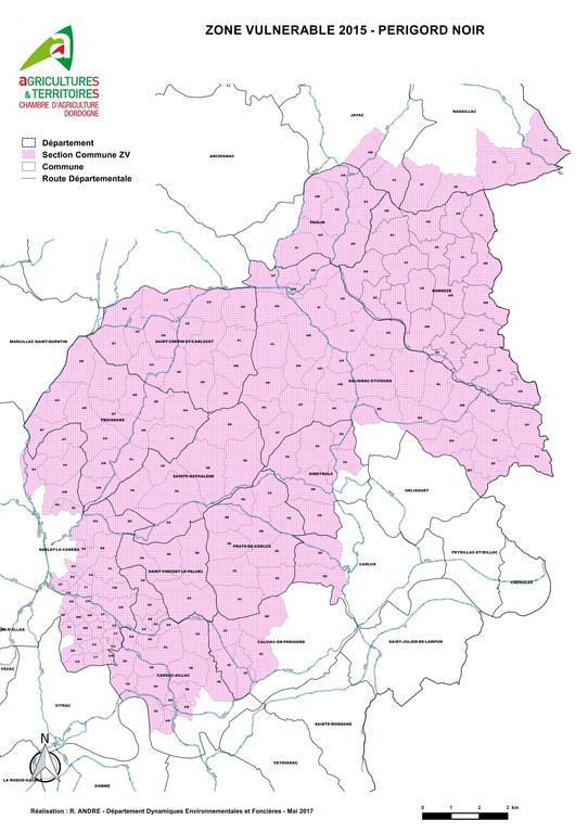 Zone vulnérable : secteur Périgord Noir